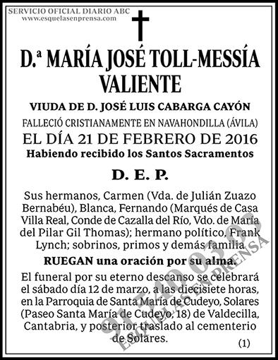 María José Toll-Messía Valiente